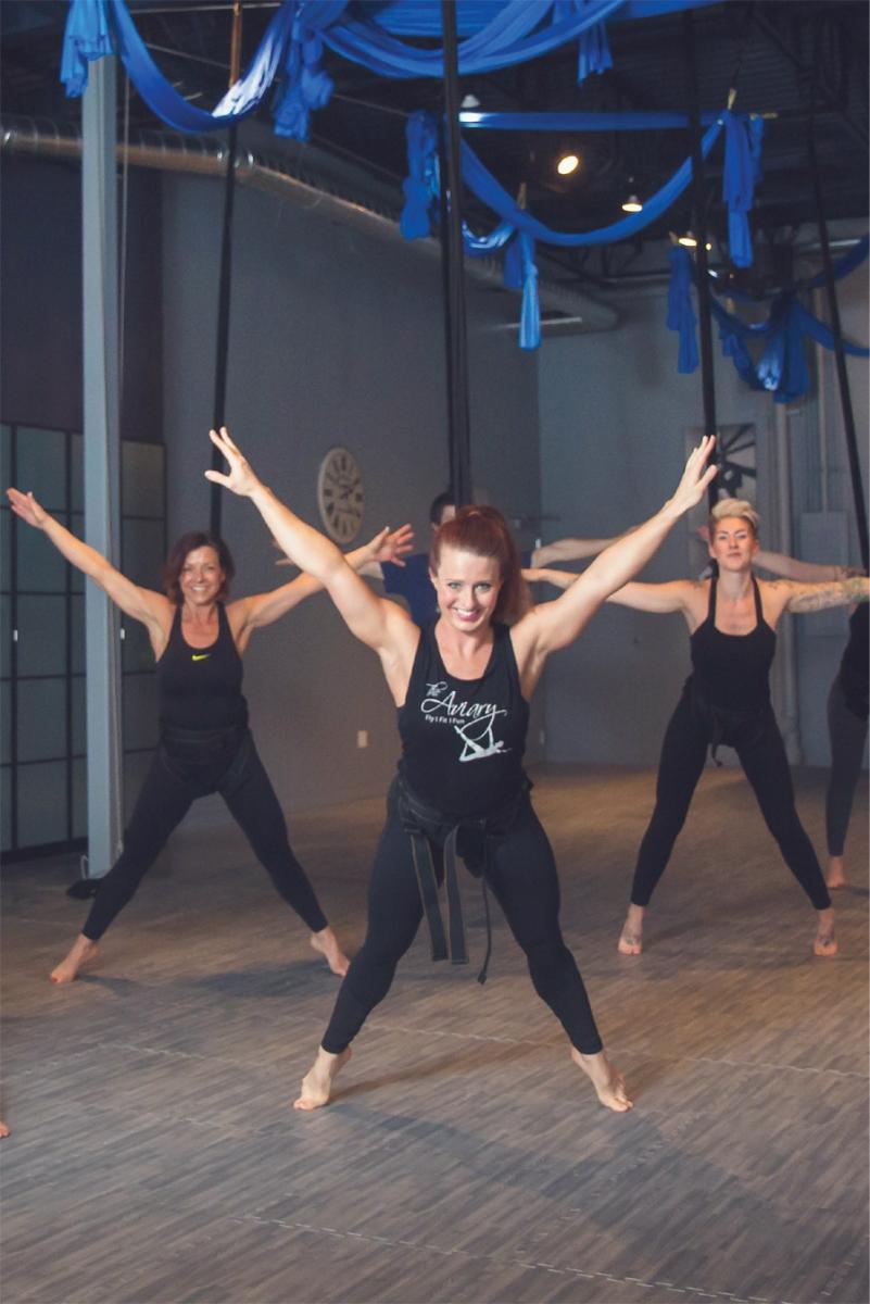 Women exercising at The Aviary.