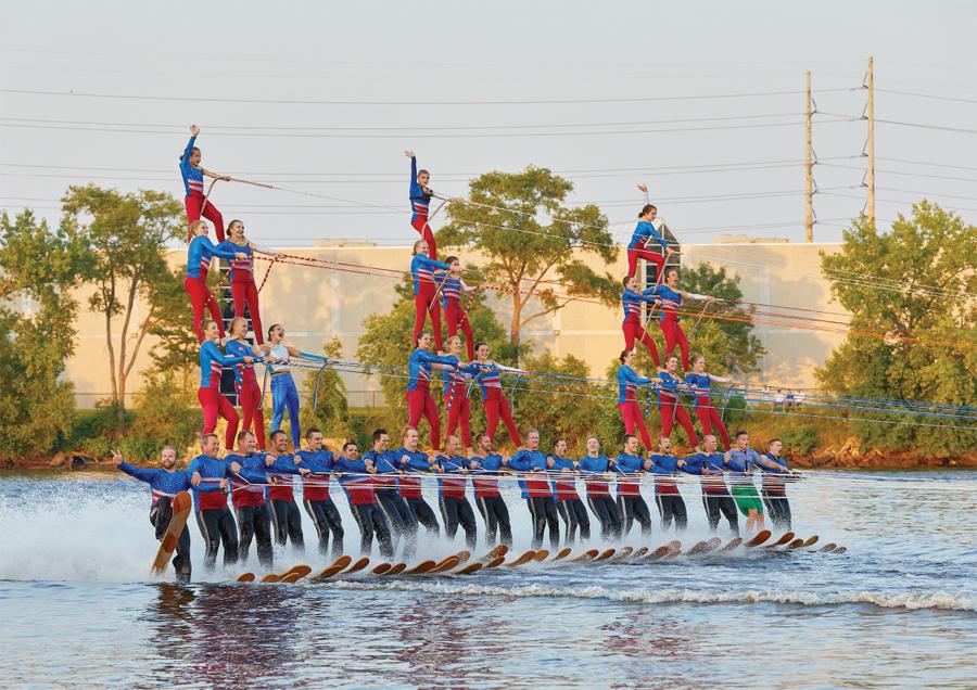 The Twin Cities River Rats performing at the Minneapolis Aquatennial.
