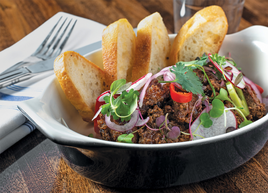 Chicken livers at Parlour Bar in St. Paul, Minnesota.
