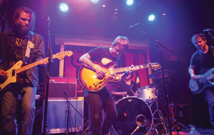 A band performing at Ed's No-Name Bar.