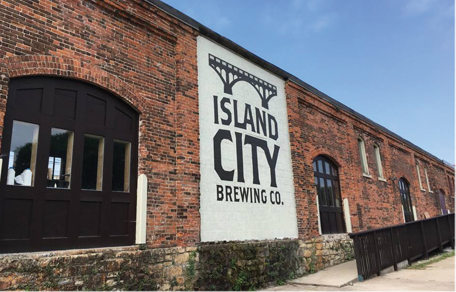 The exterior of Island City Brewing Co. in Winona, MN.