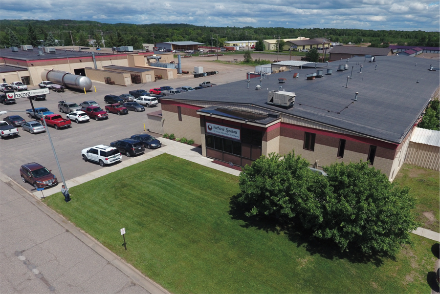An aerial view of Iracore International in Hibbing, Minnesota.