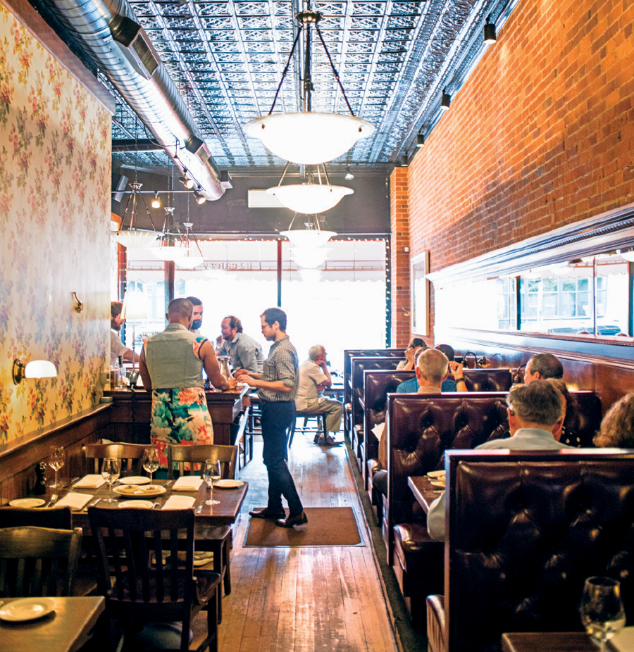 The interior at 112 Eatery in Minneapolis, Minnesota.