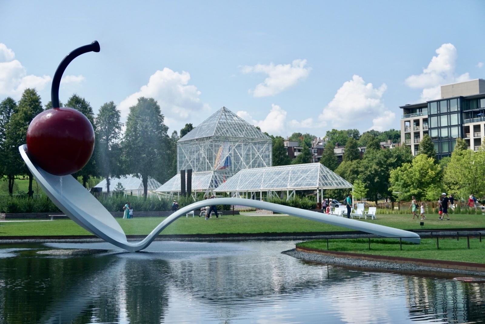 Spoonbridge and Cherry at Minneapolis Sculpture Park