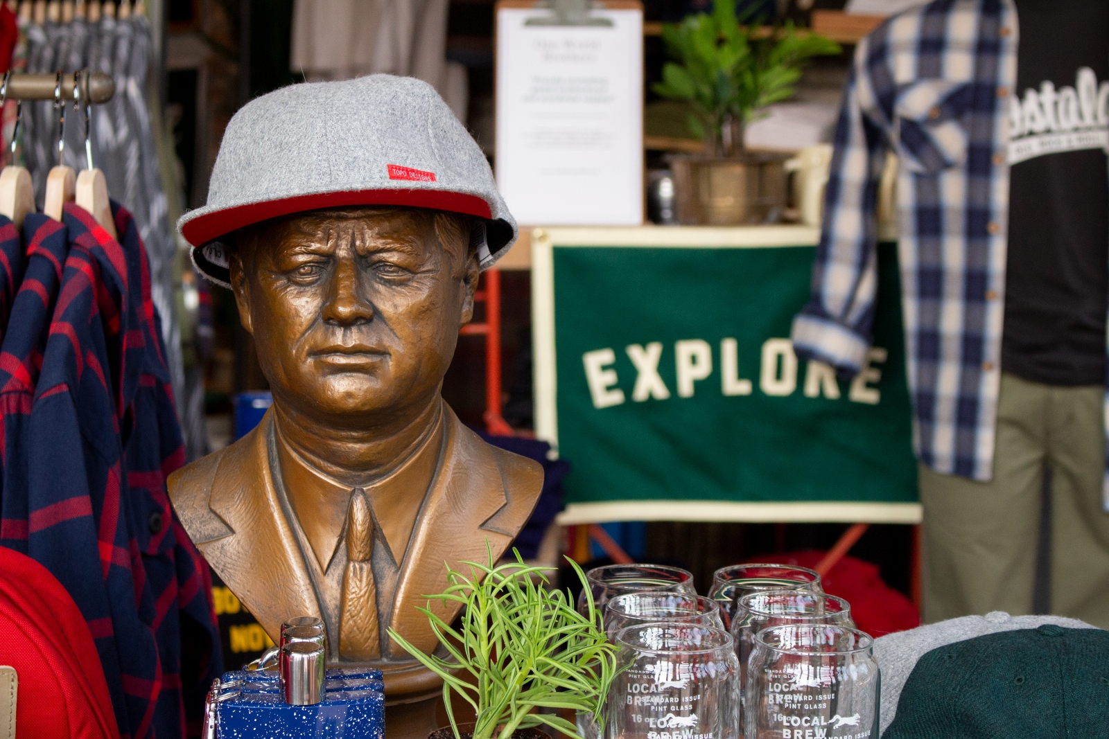 Scout Boutique features apparel and goods—although we don't think the bust is for sale. Courtesy Scout.