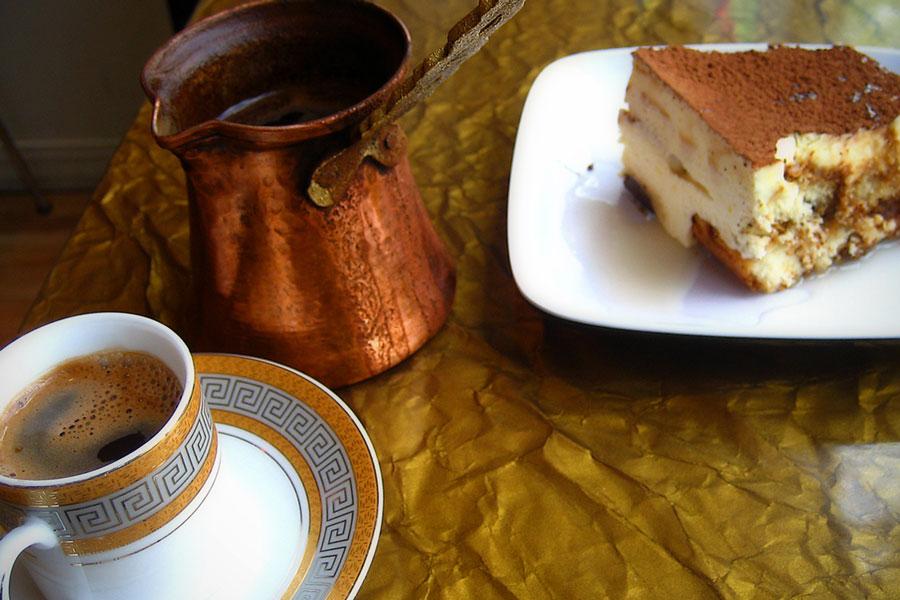 Turkish coffee and tiramisu from Shish in St. Paul, Minnesota.