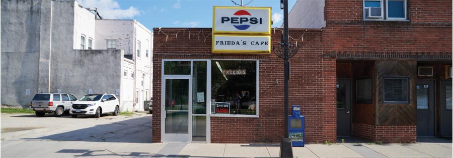 The exterior of Frieda's Cafe in Willmar, Minnesota.
