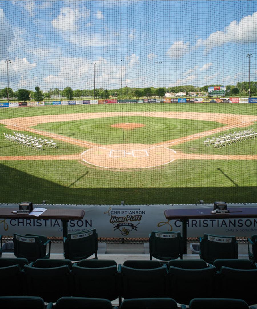 Taunton Stadium, home of the Willmar Stingers, in Willmar, Minnesota.