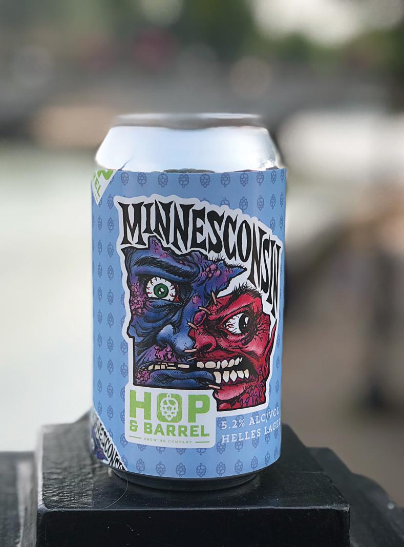 Minnesconsin beer from Hop & Barrel Brewing.