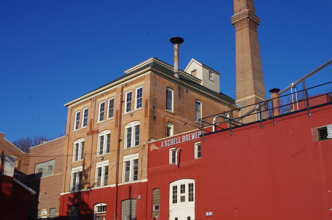The exterior of Schell's Brewery in New Ulm, Minnesota.