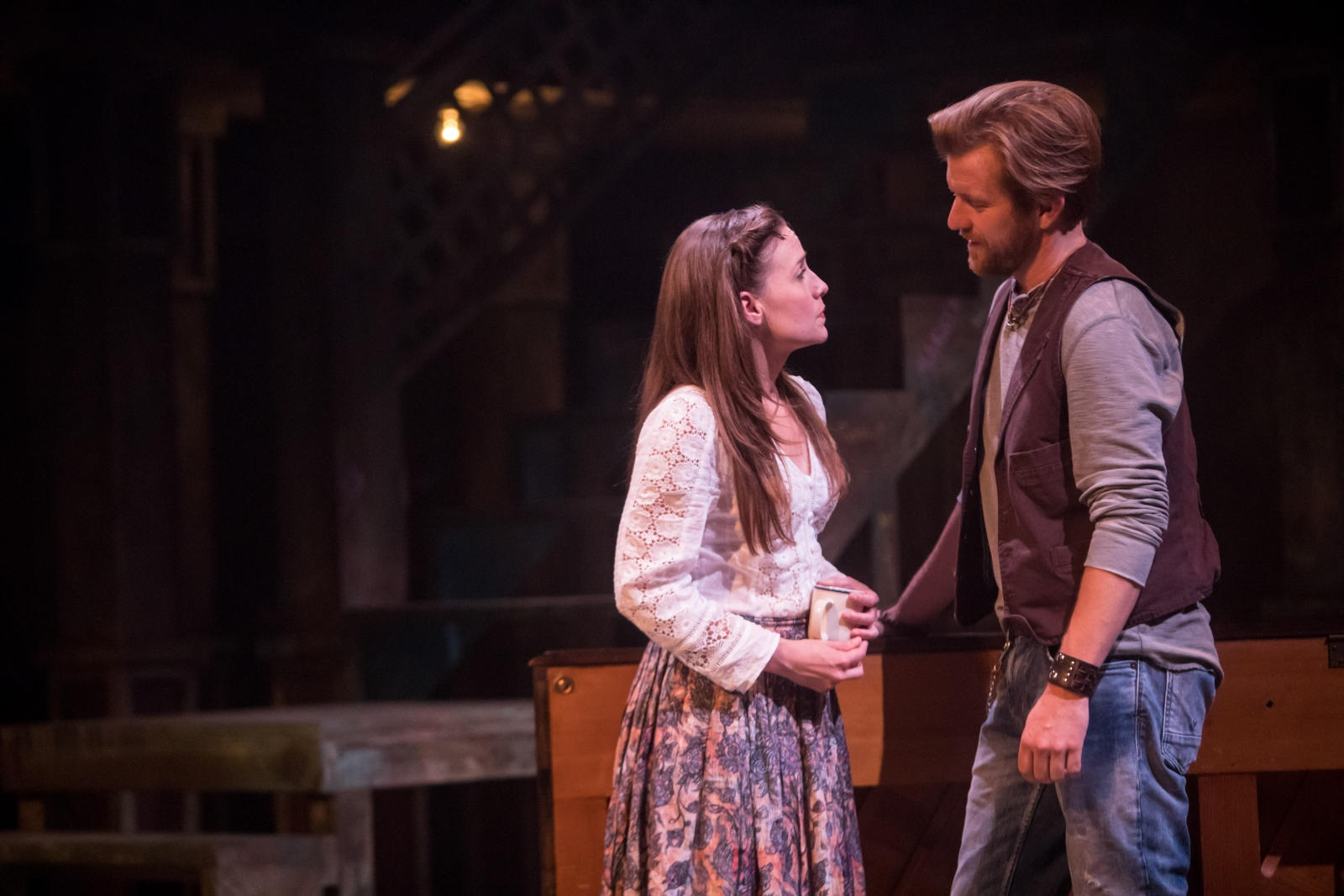 "Ben Bakken and Britta Ollmann star in the regional premiere of ""Once"" at Theater Latté Da. Photo by Dan Norman."