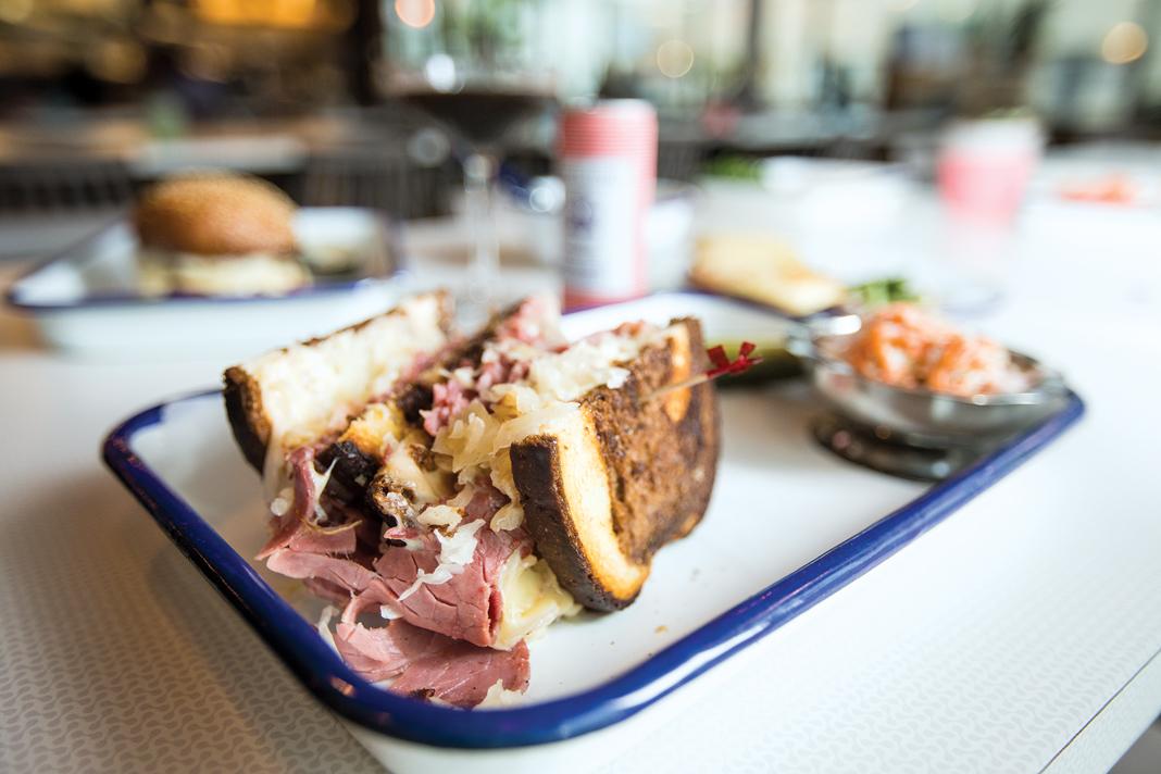 The reuben sandwich at Meyvn.