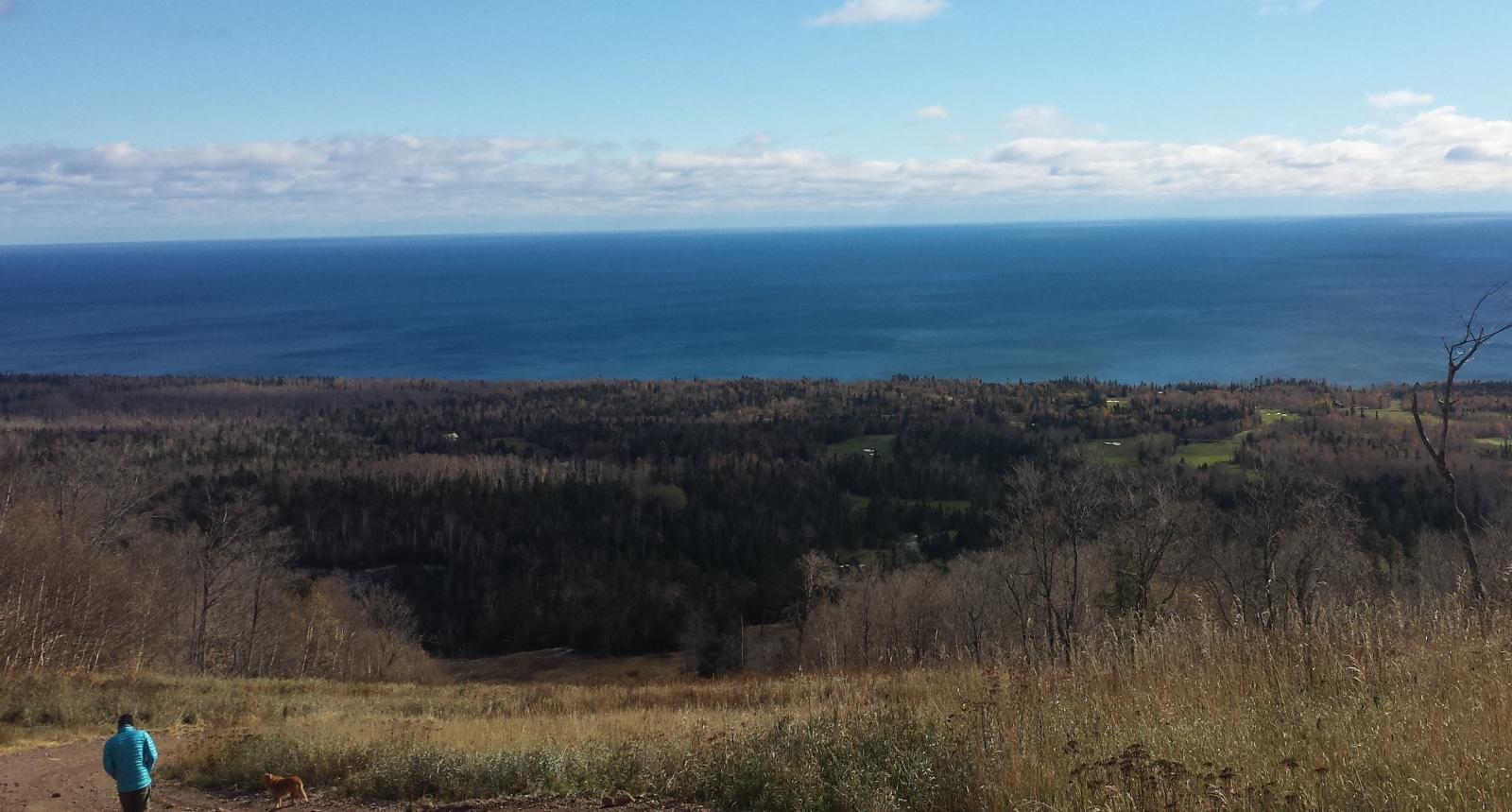 A view from the gondola's stop on Lutsen Mountains. Photo by Lianna Matt.