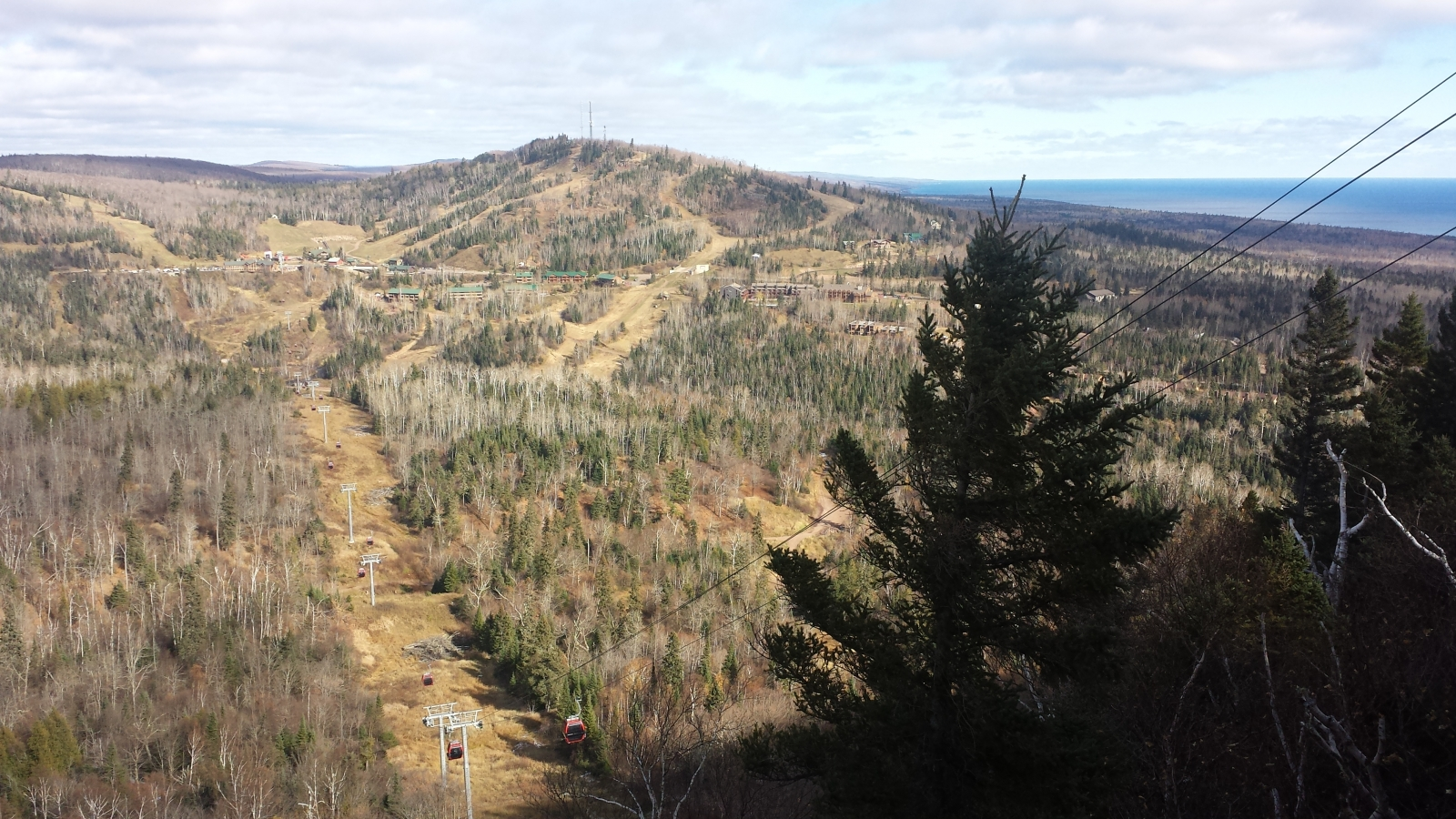 Even without peak fall colors, the ride on the Summit Express Gondola in Lutsen is beautiful. Photo by Lianna Matt.