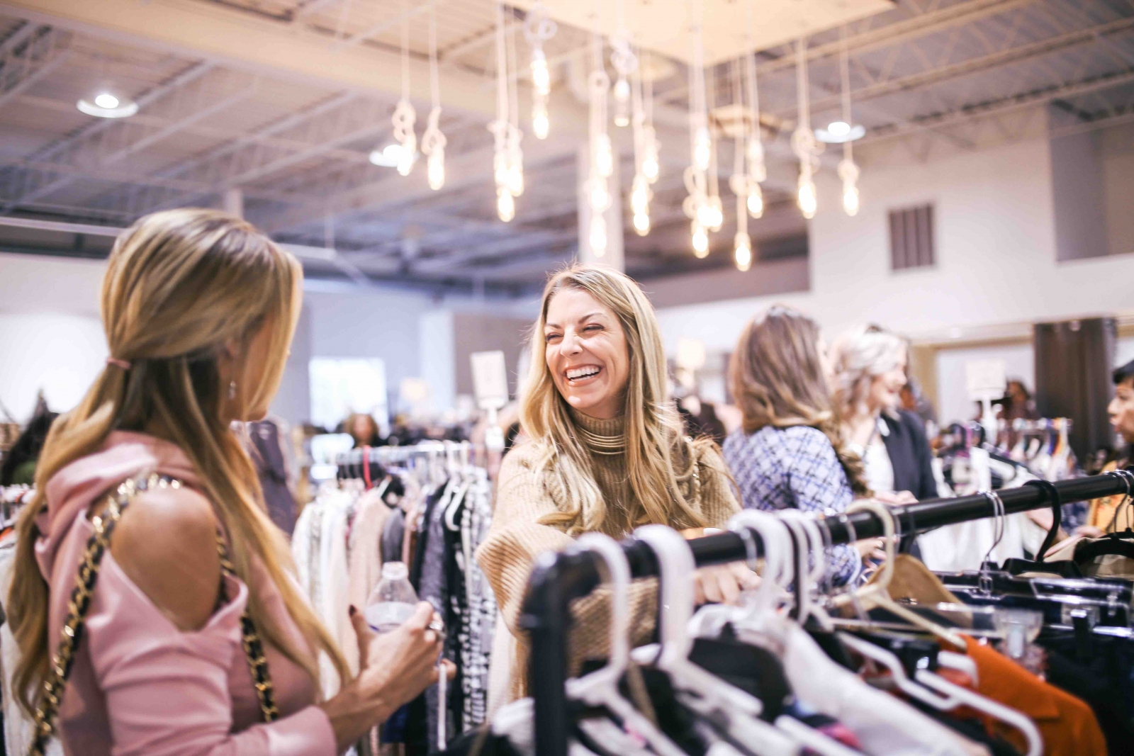 A photo from a 2017 Collective Market event of some women enjoying the shopping experience. Courtesy the Collective Market.