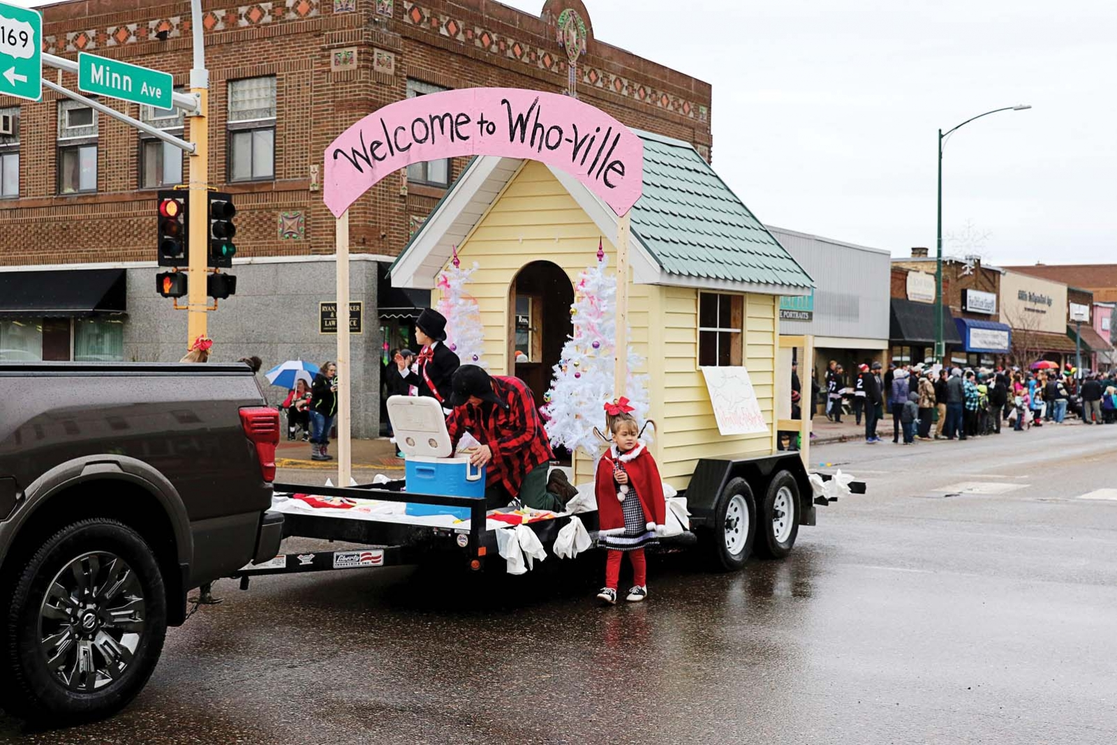 The Fish House Parade in Aitkin, Minnesota.