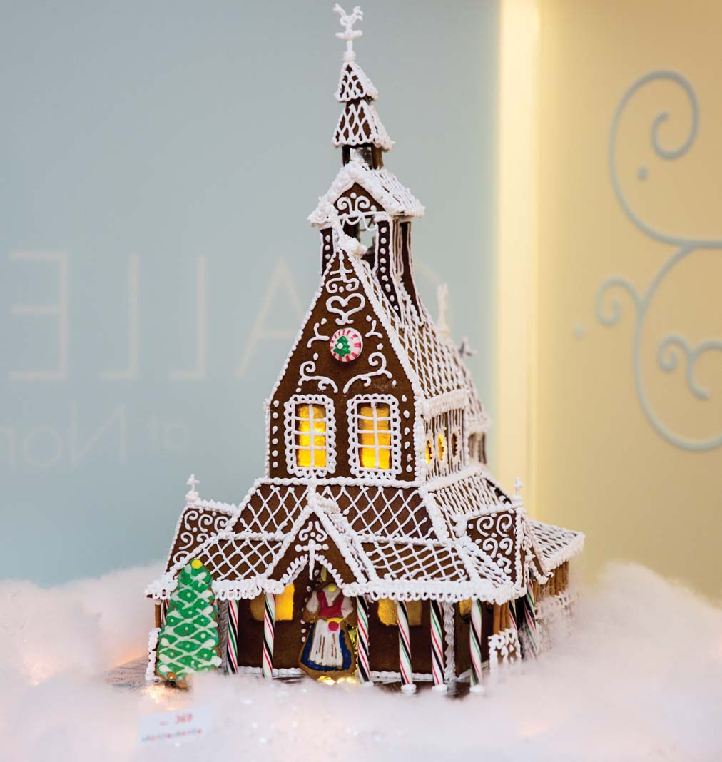 A gingerbread house at Gingerbread Wonderland.