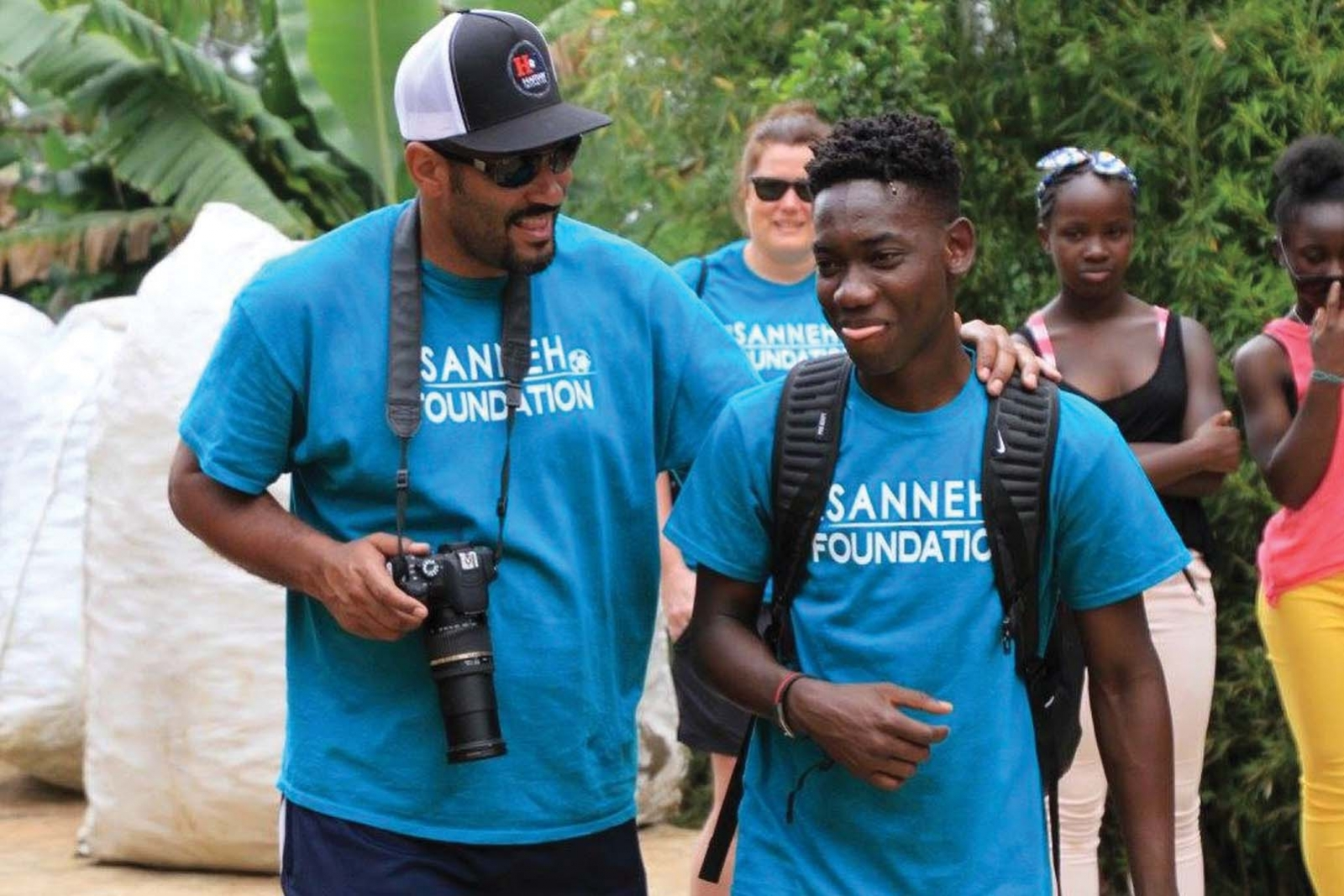 From left: Sanneh and Haitian Initiative participant Juan Louis.