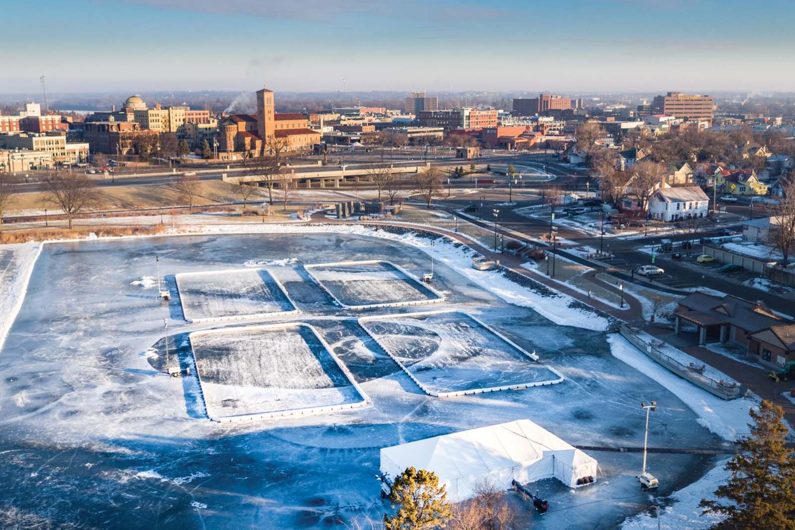 Lake George ice rinks.