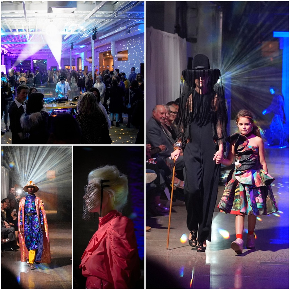 A collage of photos from S'Habiller Ave Amour at Fashion Week MN, fall 2018 edition. Photos courtesy Shelly Mosman; bottom middle photo courtesy William Clark.
