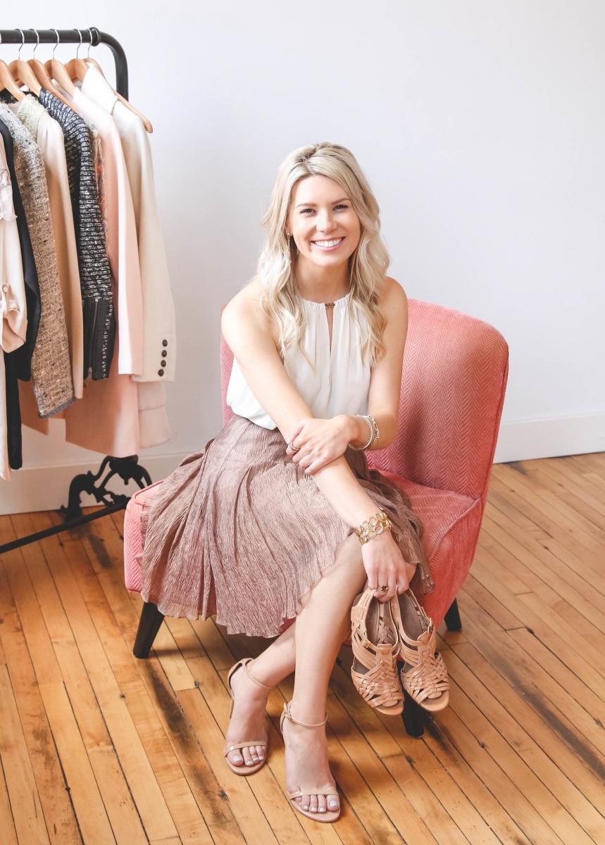 Alexandra Eve, personal stylist and wardrobe consultant. Photo courtesy Alexandra Eve.