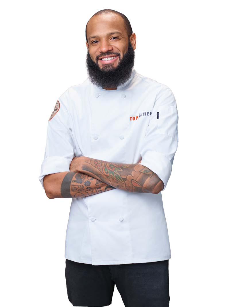A portrait of chef Justin Sutherland.