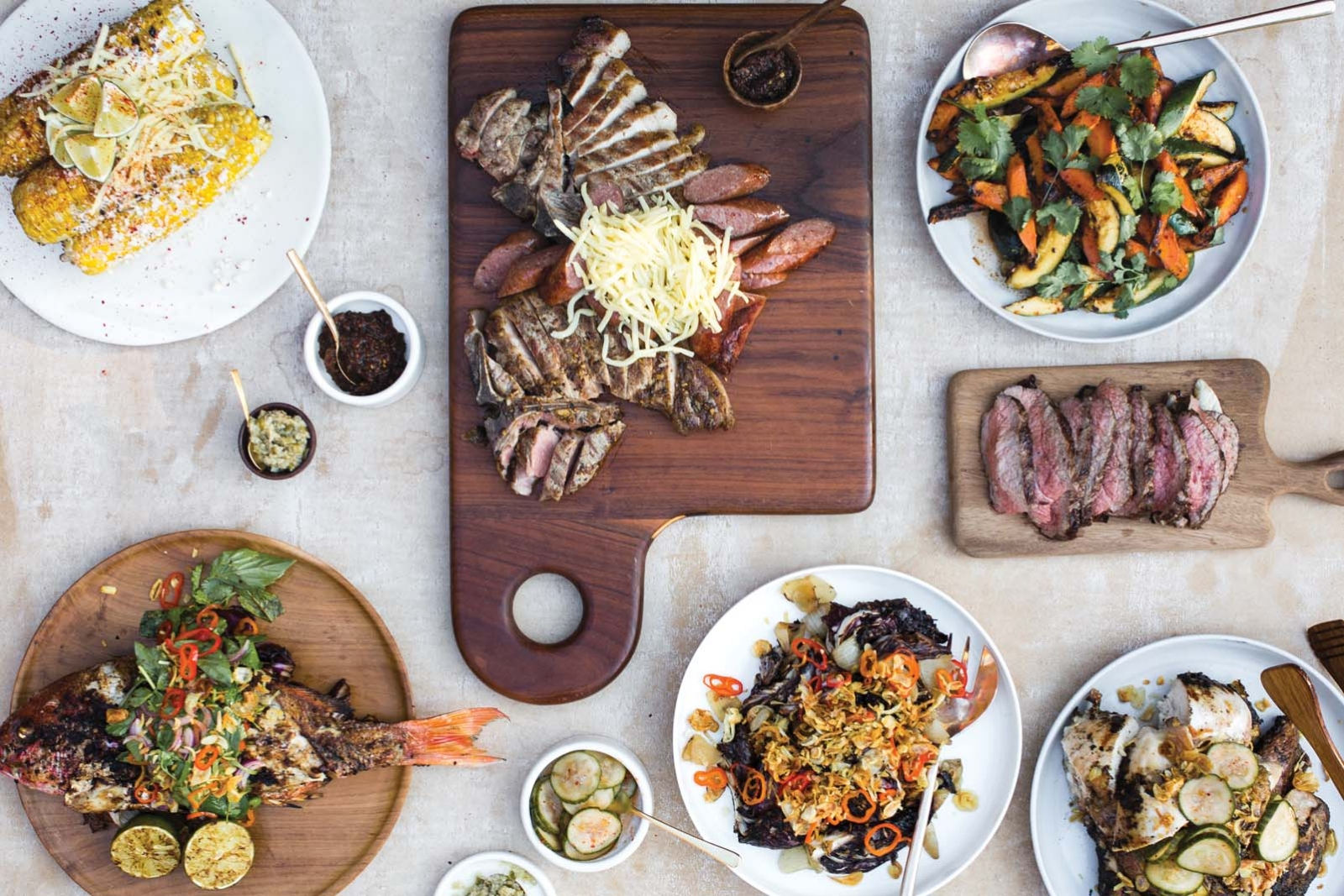 A table of offerings at Union Kitchen.