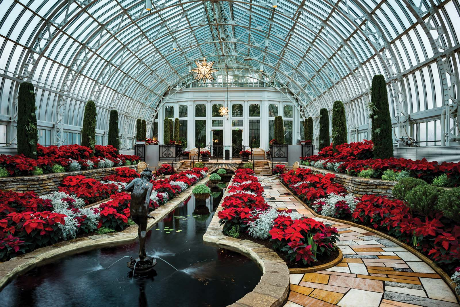 The Holiday Flower Show at the Marjorie McNeely Conservatory.