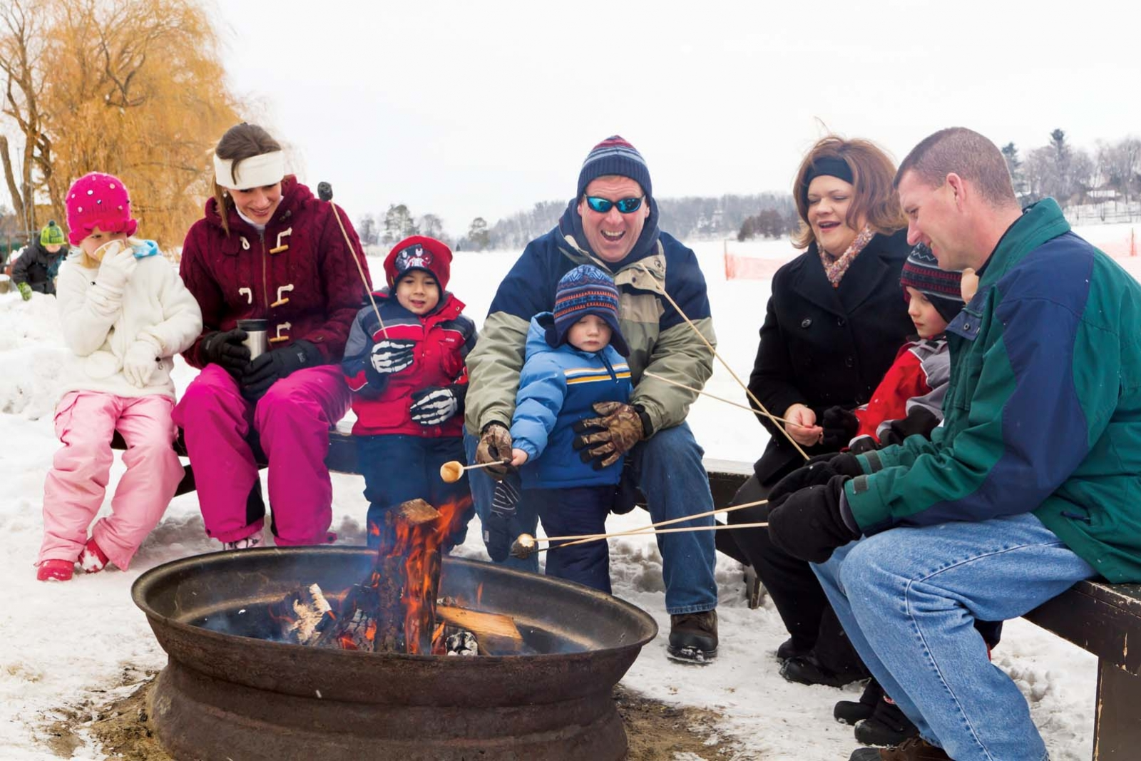 A toasty family outing at Cragun's Resort.