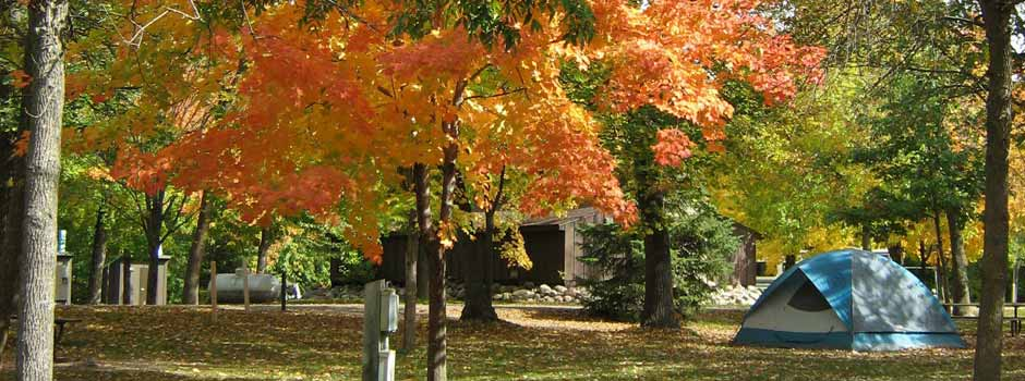 fall camping in mille lacs