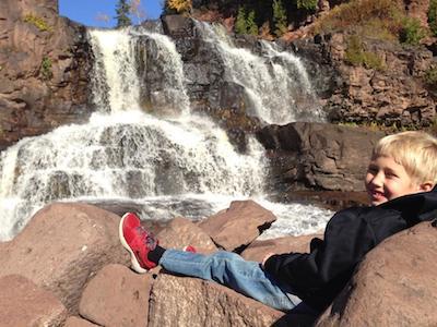 Adam at Gooseberry Falls