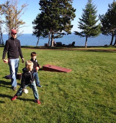 Lawn games at Larsmont