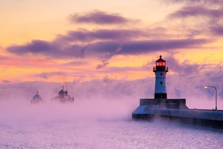 sea smoke, Minnesota, beautiful winter photos, minnesota scenery, Winter Phenomena, Winter wonder