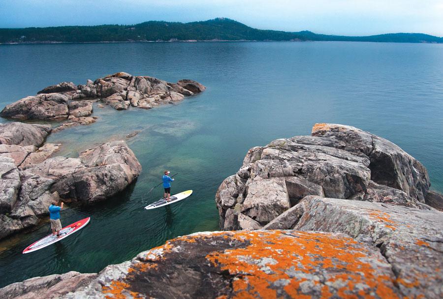 paddleboarding, michigan, lake superior