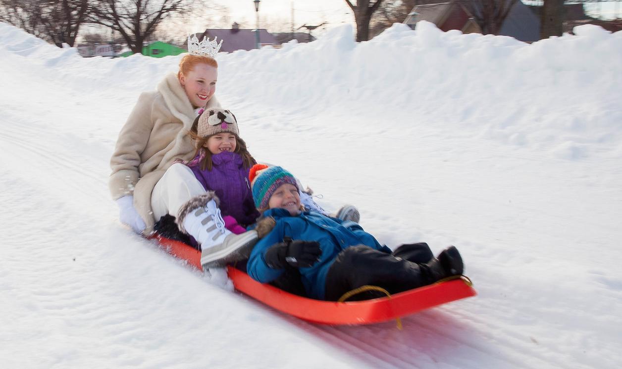 Winter Carnival Snow Park snow slide