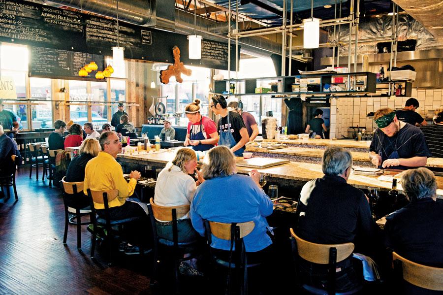 The bar at Travail Kitchen and Amusements.