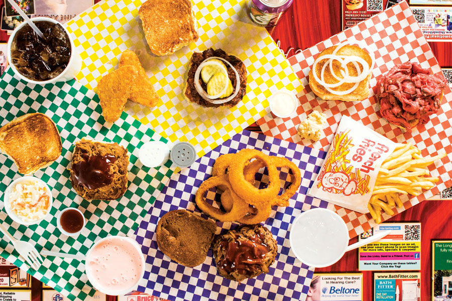 A full spread of offerings at Maverick's Real Roast Beef.