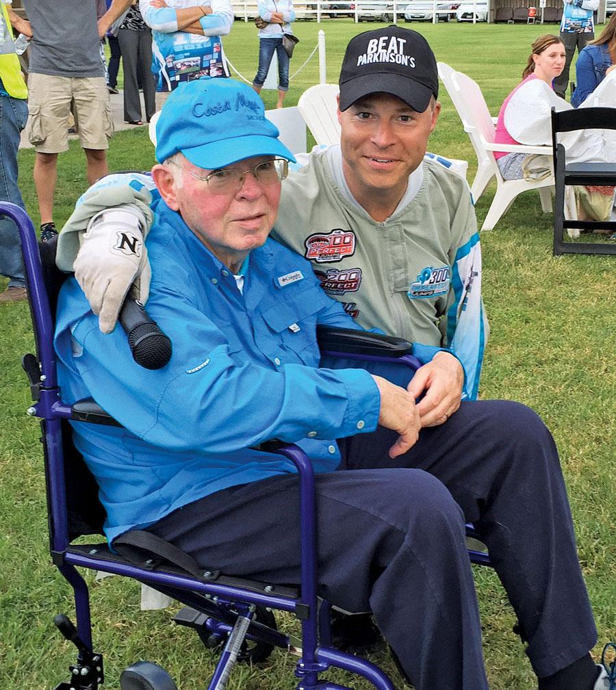 Kevin Burkhart at a Parkinsons fundraising event.