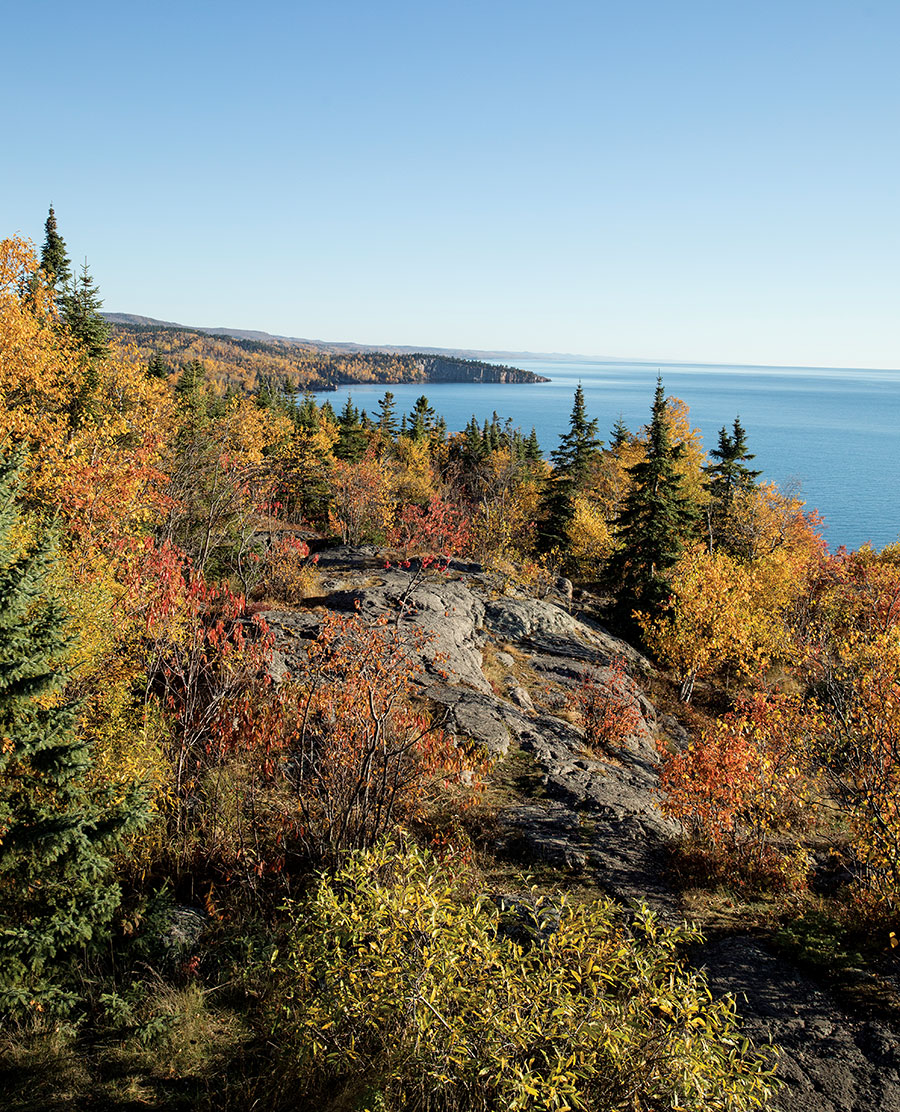 The view of Shovel Point from Palisade Head.