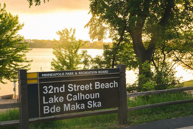 Lake Calhoun/Bde Maka Ska sign