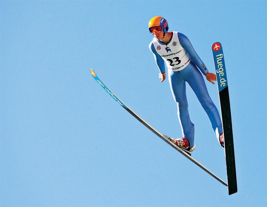 Trevor Edlund ski jumping.
