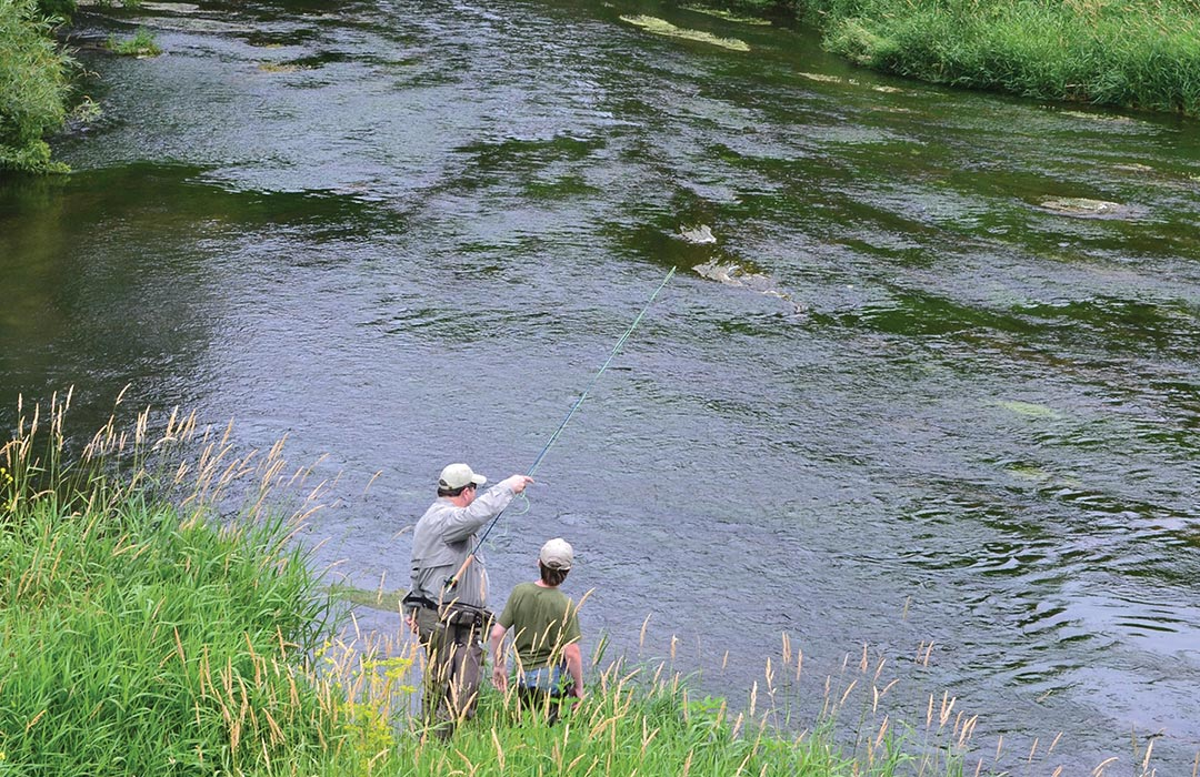 Fly Fishing at Root River, Preston.