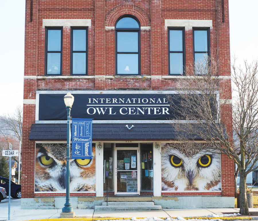 The International Owl Center in Houston, Minnesota.