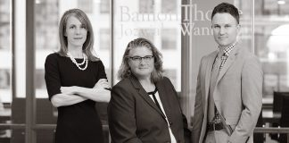 Photo of Frances Baillon, Joni Thome, and Chris Jozwiak of Baillon Thome Jozwiak & Wanta LLP