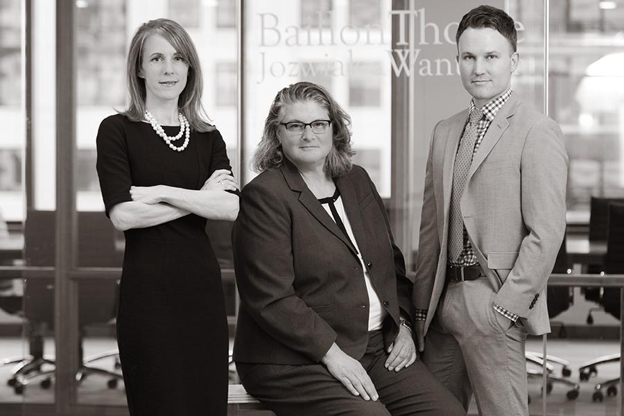 Photo of Frances Baillon, Joni Thome, and Chris Jozwiak of Baillon Thome Jozwiak & Wanta LLP