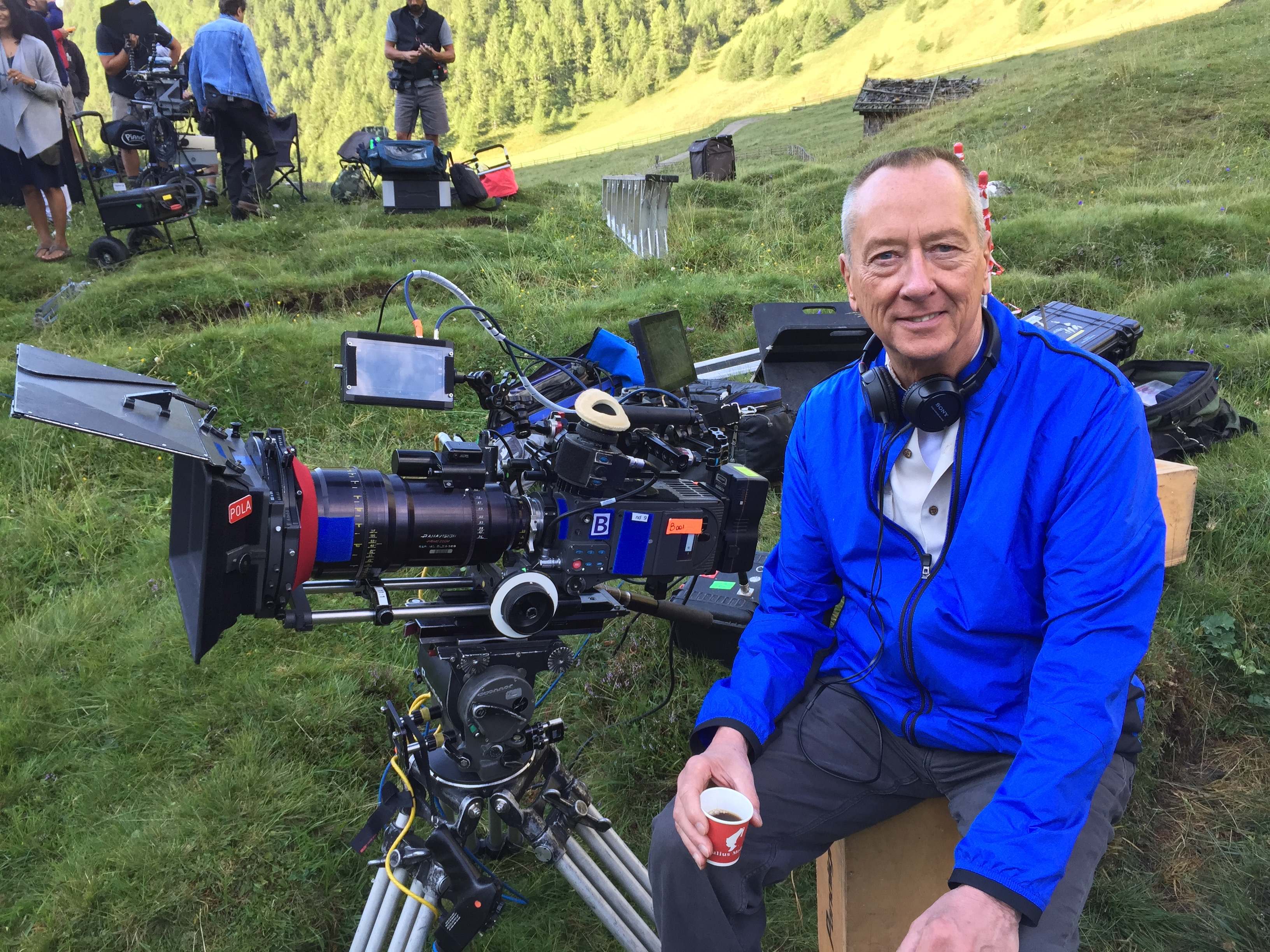 """Barry Morrow on the set of """"Smitten!"""""""