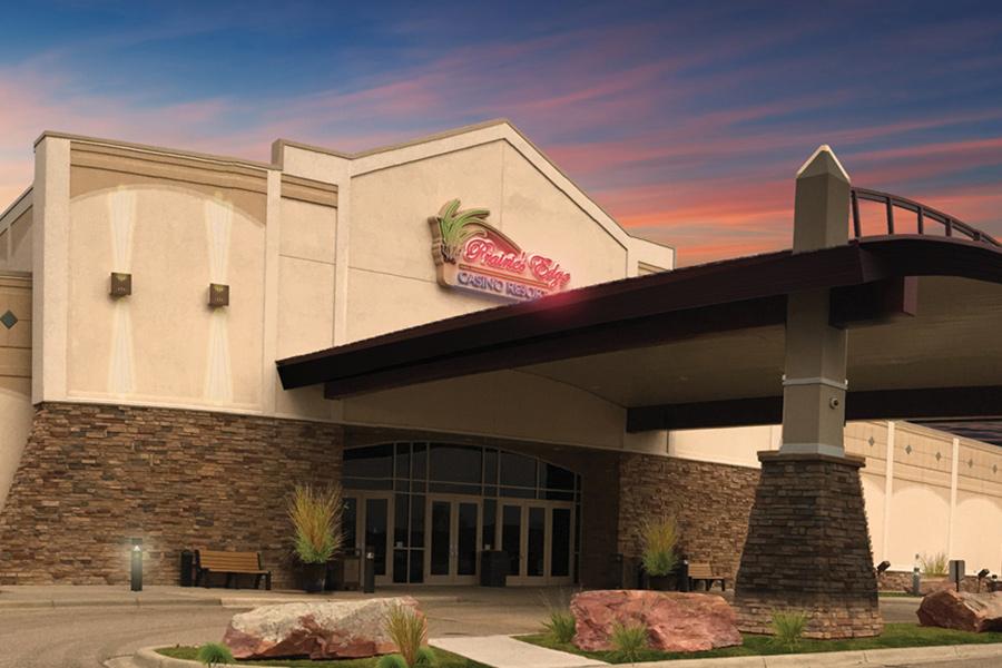 The exterior of Prairie's Edge casino in Granite Falls, Minnesota.