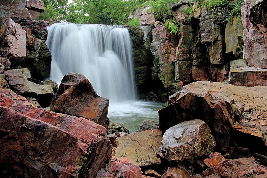 Winnewissa Falls in Pipestone, Minnesota.