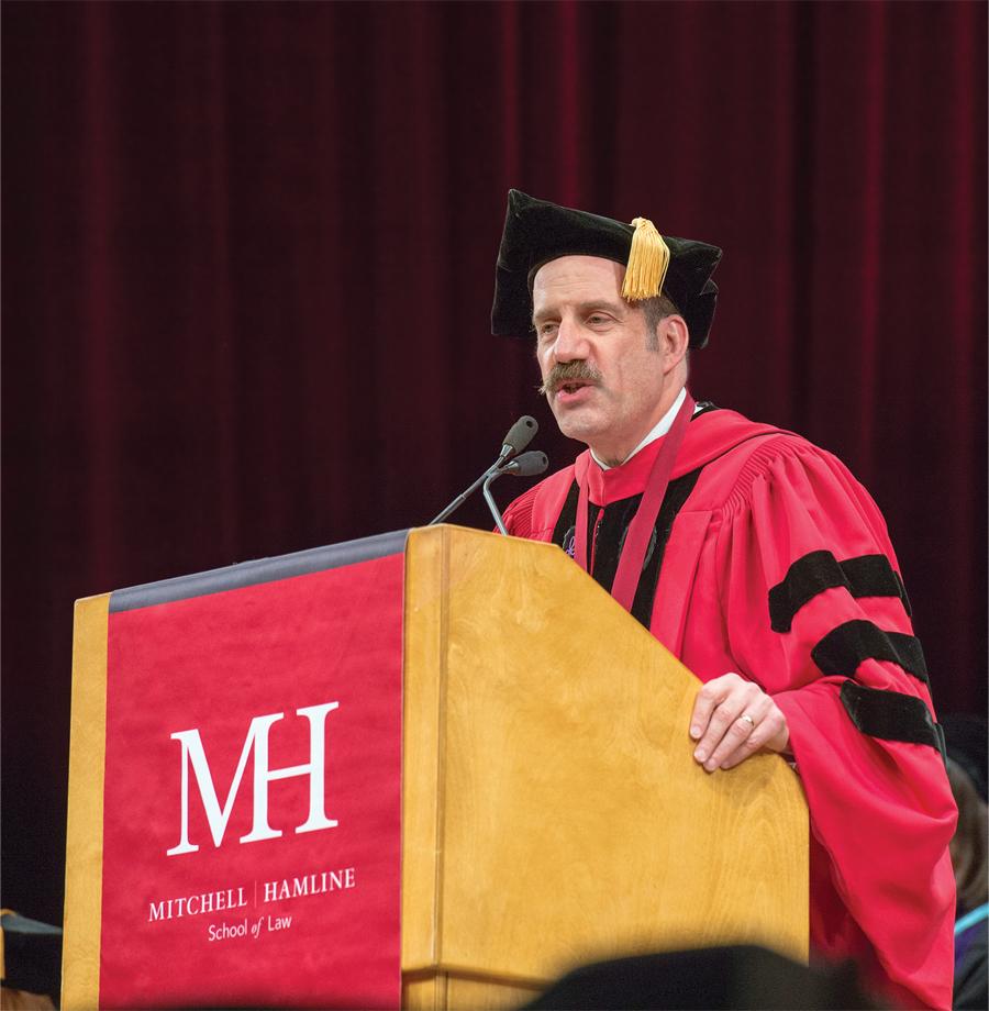 Mark Gordon, President and Dean, Mitchell Hamline School of Law, delivering a speech.