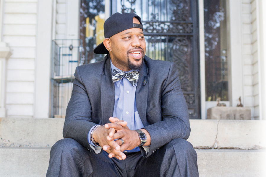 A portrait of Michael Walker, the Director of Minneapolis Public Schools' Office of Black Male Student Achievement.